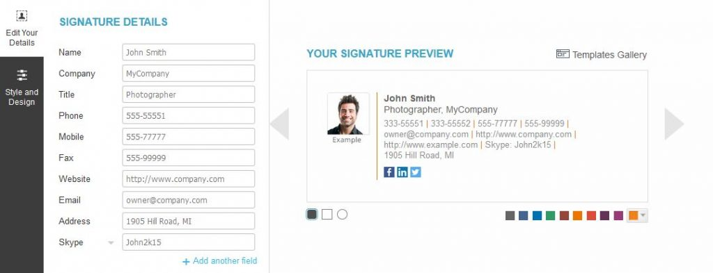 Free Modern Html Email Signature Generator